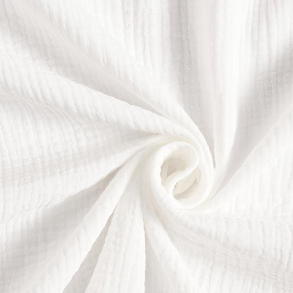 Mousseline / Tissu double crêpe GOTS – écru