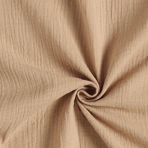 Tula Musselin/ Doppel-Krinkel Gewebe GOTS – beige