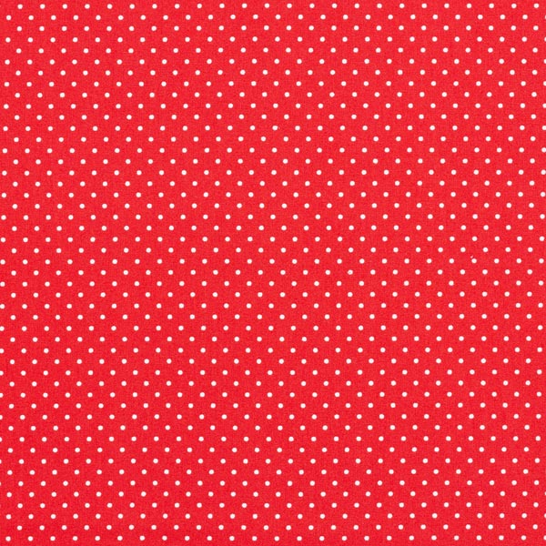 Popeline coton Petits pois – rouge/blanc
