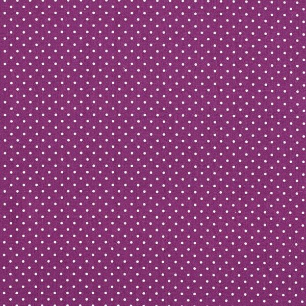 Popeline coton Petits pois – lilas rouge/blanc