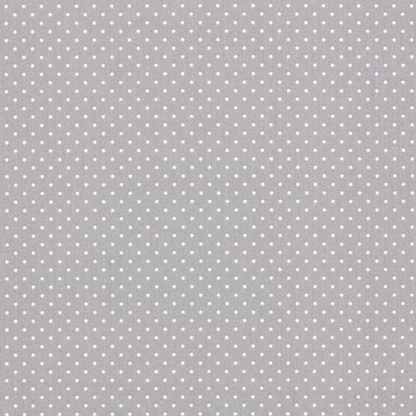 Popeline coton Petits pois – gris/blanc