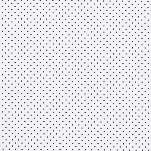 Popeline coton Petits pois – blanc/noir