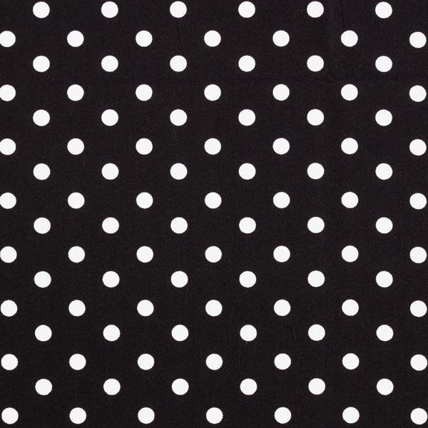 Baumwollpopeline große Punkte – schwarz/weiss