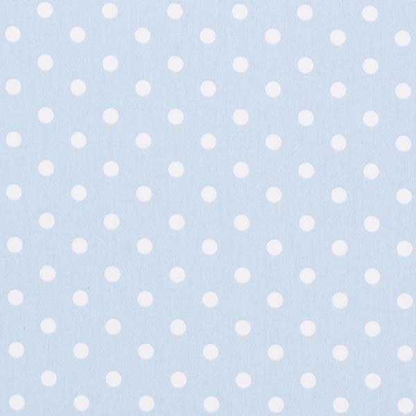 Popeline coton Grands pois – bleu clair/blanc