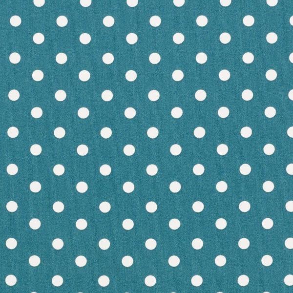 Popeline coton Grands pois – pétrole/blanc