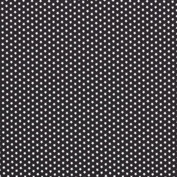 Popeline coton Petites étoiles – noir/blanc