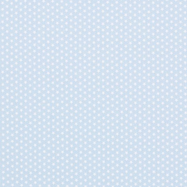 Popeline coton Petites étoiles – bleu clair/blanc