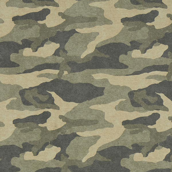 Camouflage gratté French Terry   by Poppy – beige foncé