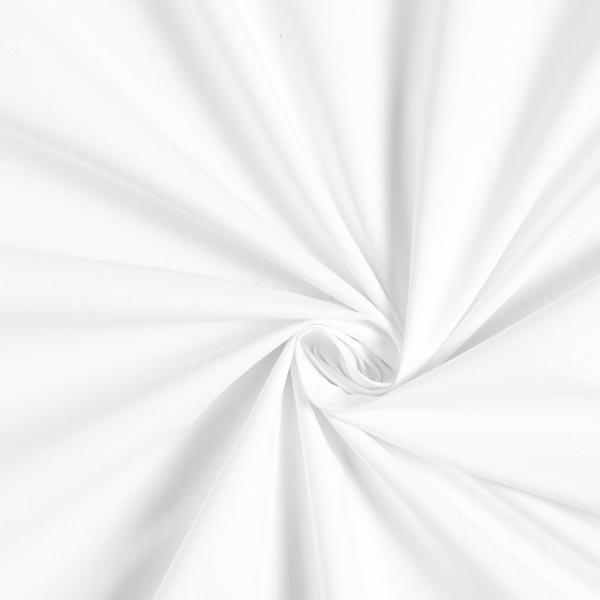 Baumwollstoff Popeline Uni – weiss