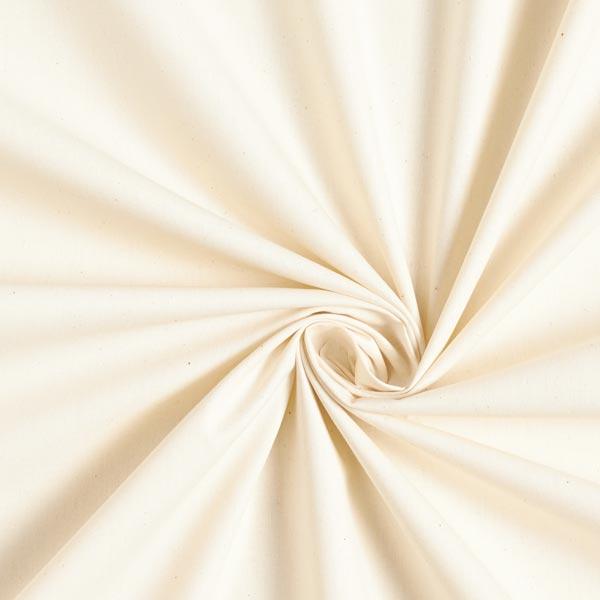 Tissu en coton Popeline Uni – crème