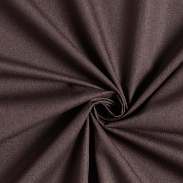 Tissu en coton Popeline Uni – marron foncé