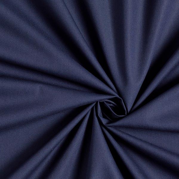 Tissu en coton Popeline Uni – bleu marine