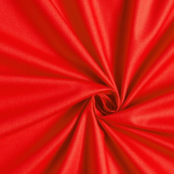 Tissu en coton Popeline Uni – rouge vif
