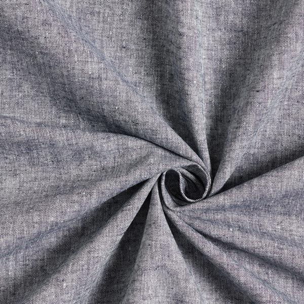 Halbleinen Melange – blau