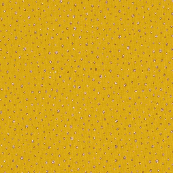 Jersey coton Paillettes – curry