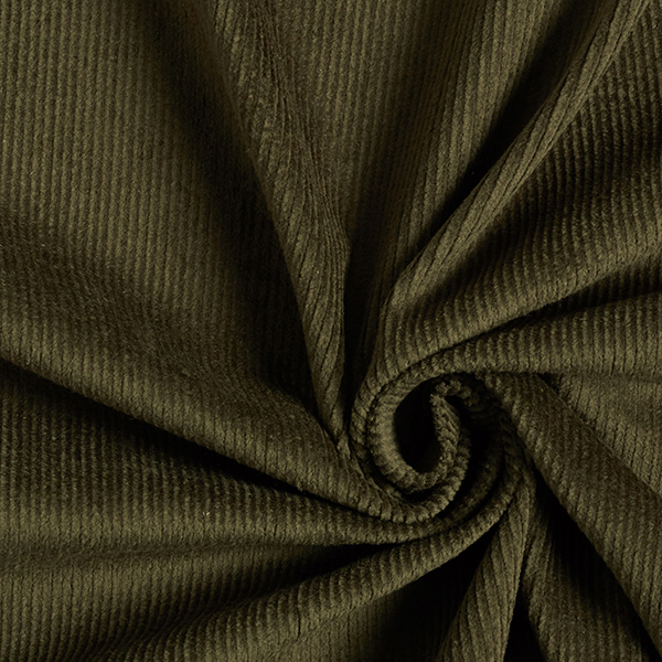 Elastischer Genuacord, vorgewaschen – khaki