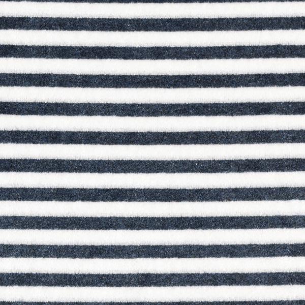 Nicki Stoff Streifen – marineblau/weiss