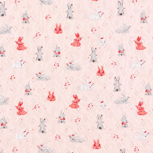 Ajour Lapins   by Poppy  – rose