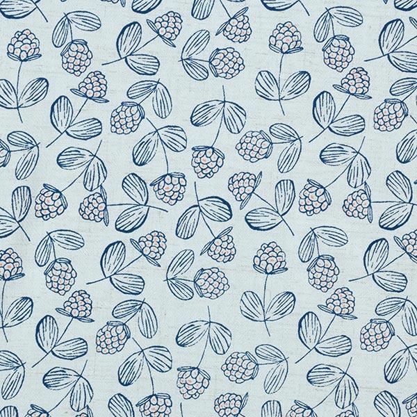Mélange lin léger Framboises – bleu clair