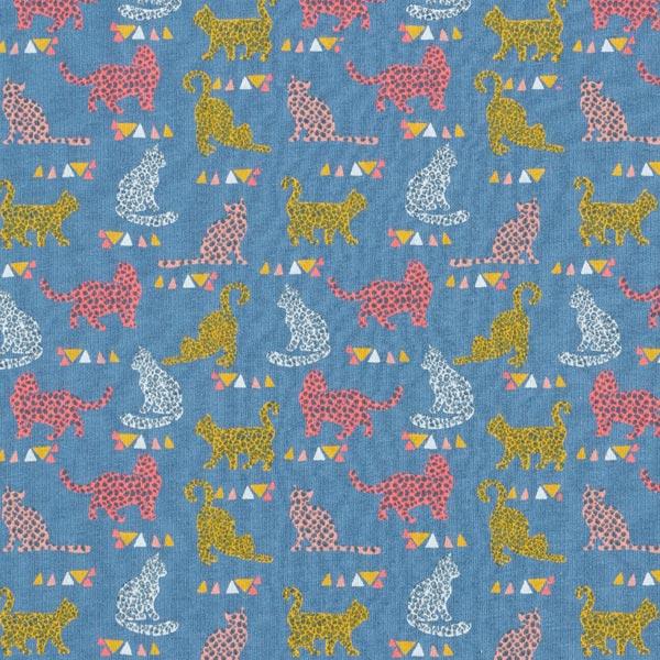 Sweat douillet | by Poppy GOTS Chats – bleu jean