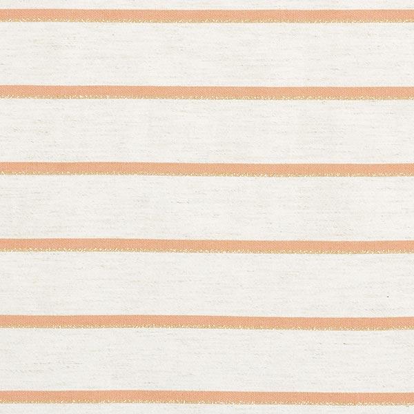 Aspect lin Rayures Lurex – abricot