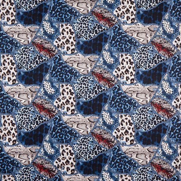 Suede ceinture animale – bleu jean