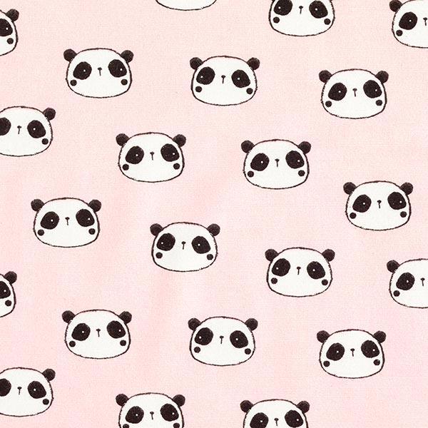 Baumwollflanell Panda – rosé