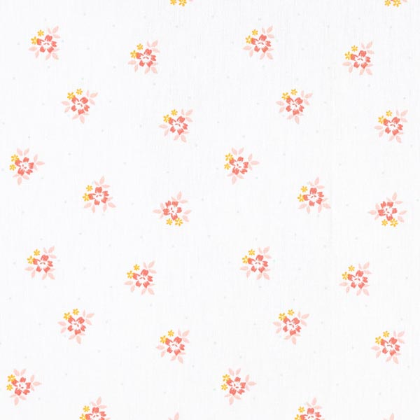 Tissu en coton popeline petits bouquets de fleurs costumes traditionnels – blanc