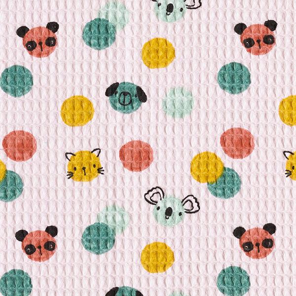 Waffelpiqué Konfetti Tiere | by Poppy – rosé