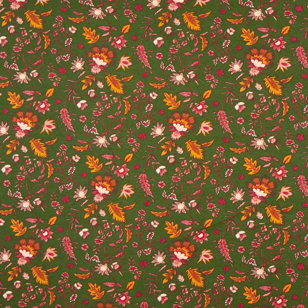 Viskosejersey Herbstlaub – dunkeloliv