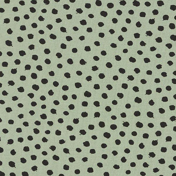 Jersey coton griffonnage Points GOTS – roseau/noir