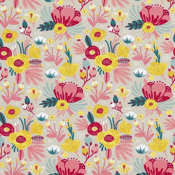 Bio-Baumwolljersey Blumen GOTS | by Poppy – sand