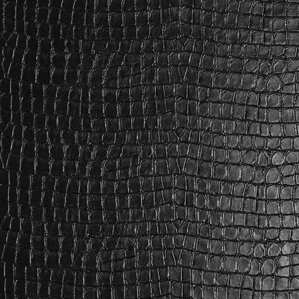 Lederimitat Krokodilhaut – schwarz