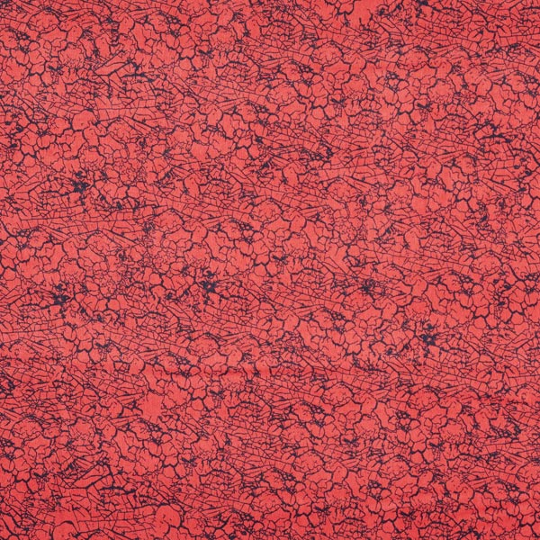 Polyester satin crash – rouge rouille