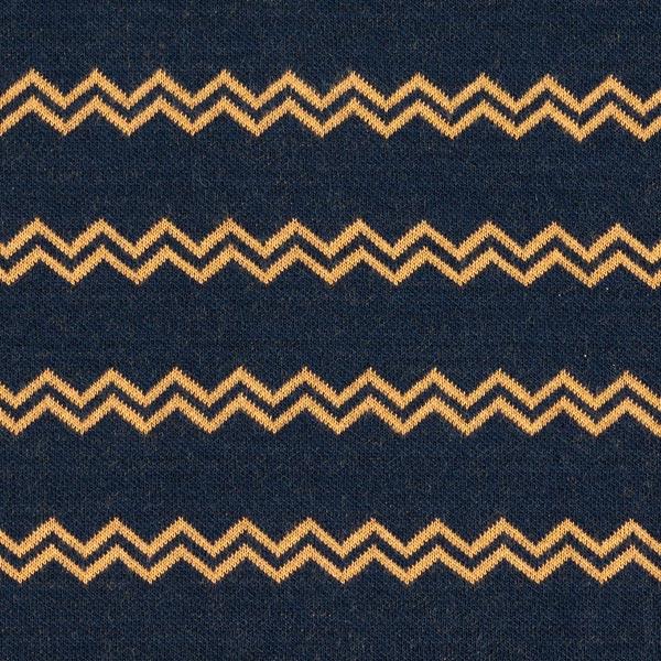 Jacquard maille rayures zigzag – bleu marine