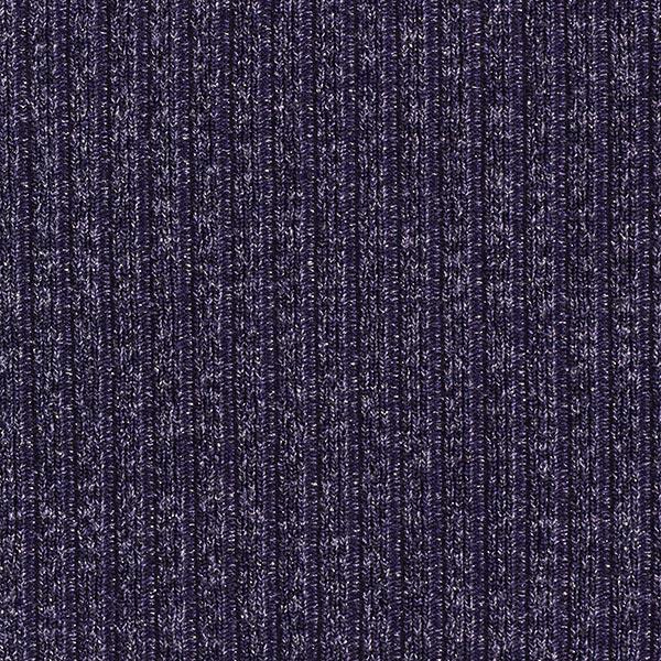 Maille côtelée chiné paillettes – bleu marine