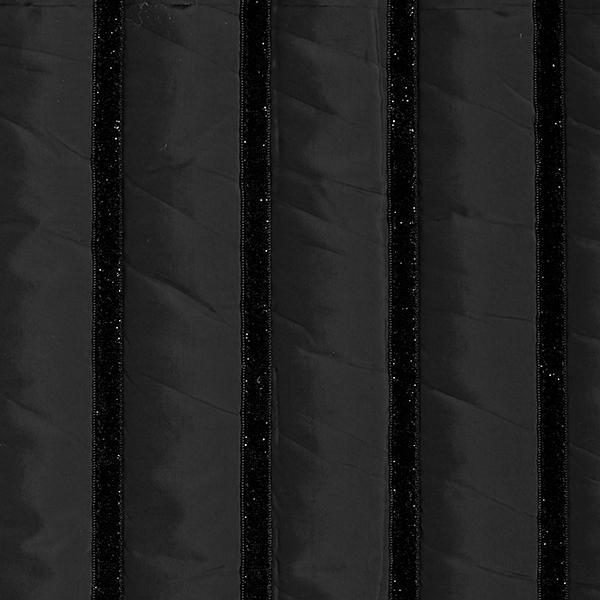 Steppstoff Glitzerstreifen – schwarz