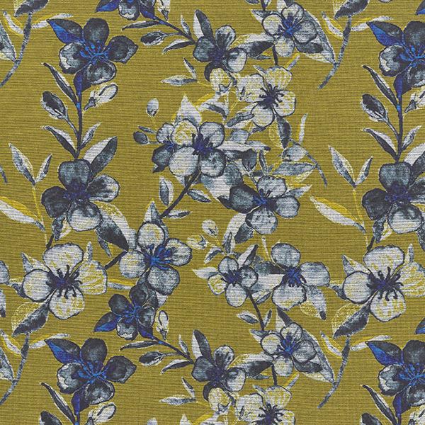 Jersey romanite Clématite – jaune ocre