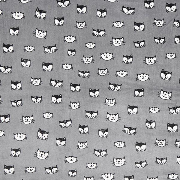 Polaire bien-être têtes de chats – gris foncé