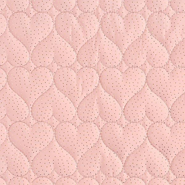 Steppstoff Glitzerherzen – rosa