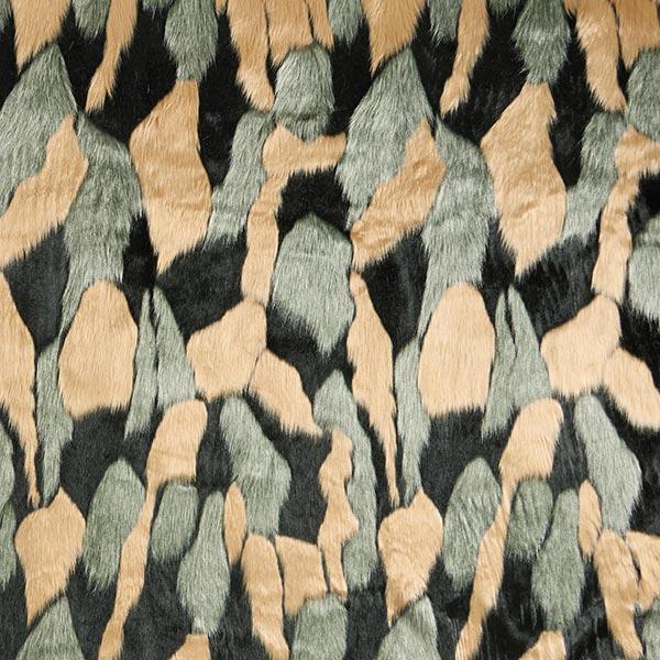 Kunstfell Patchwork – mintgrün/beige
