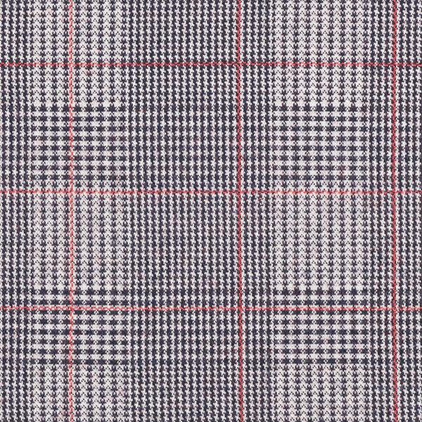 Jacquard maille Prince-de-Galles – écru/rouge clair