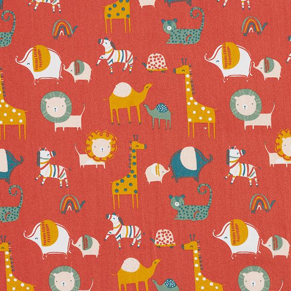 Tissu en coton Popeline Amis de safari GOTS – terre cuite