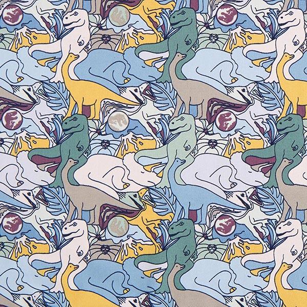Tissu en coton popeline Jurassic World Dinochaos – roseau