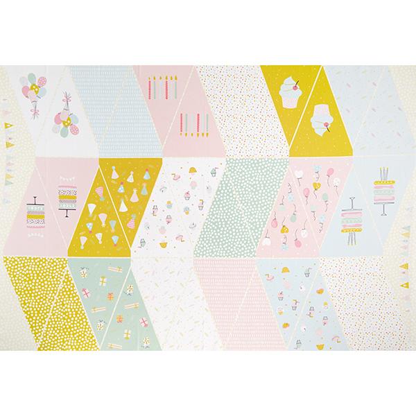 Panel Impression numérique Guirlande fanions fête – jaune clair