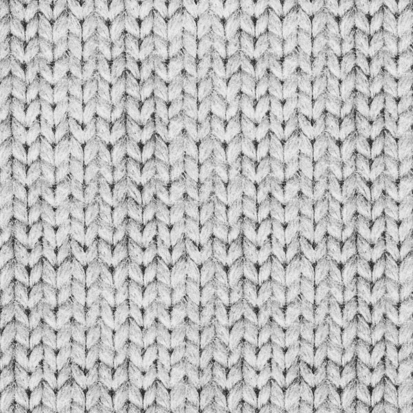 Sweatstoff Zopfmuster GOTS | by Poppy – grau