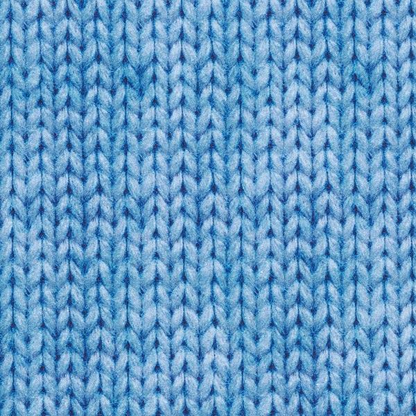 Sweatstoff Zopfmuster GOTS | by Poppy – ozeanblau