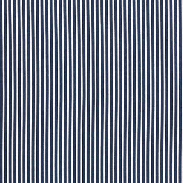 Baumwollpopeline Streifen – marineblau/weiss