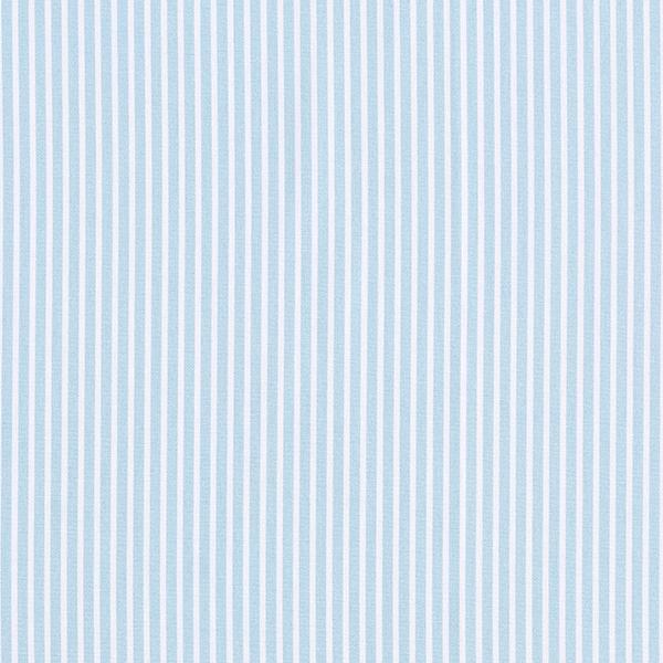 Baumwollpopeline Streifen – hellblau/weiss