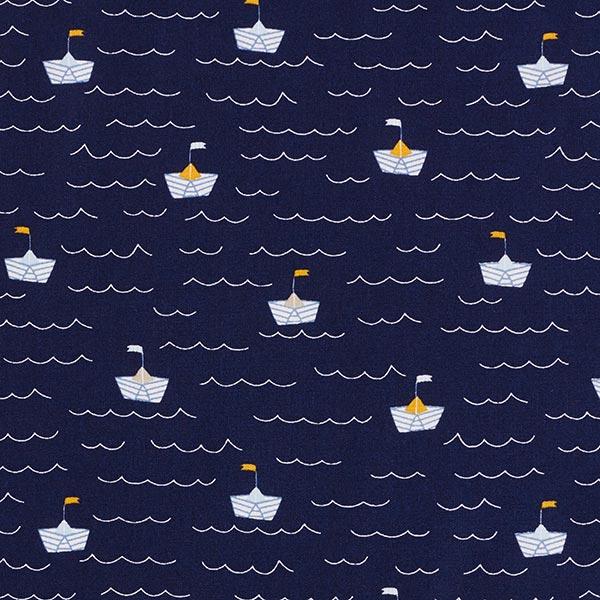 Popeline coton Petit bateau en pliage | by Poppy – bleu marine